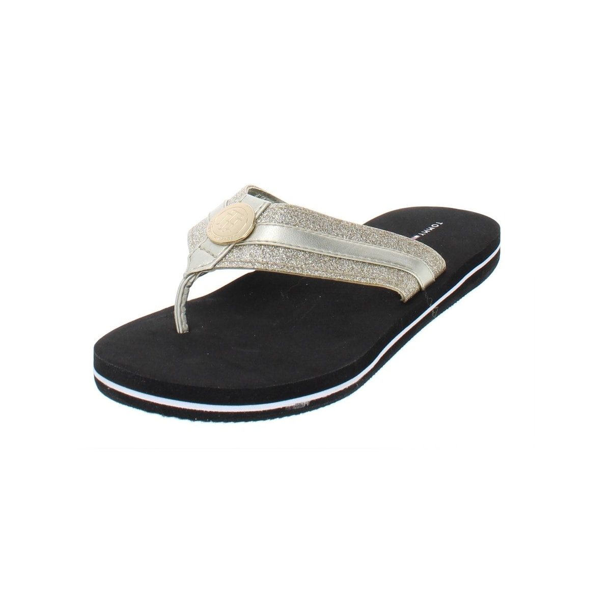 7b8c1837 Shop Tommy Hilfiger Womens Capes Flip-Flops Glitter Thong - Free Shipping  On Orders Over $45 - Overstock - 27584934 - Gold Multi Texture - 6 Medium  (B,M)