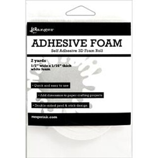 "Ranger Adhesive White Foam Roll 1/2""X1/16""X2yd-"