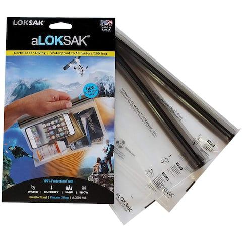 "Loksak aLoksak Resealable Waterproof TSA-Size Storage Bags (2 Pack) - 9"" x 6"" - Clear - 9"" x 6"""