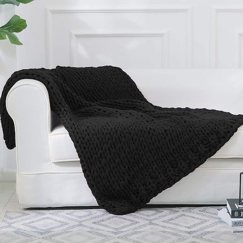 Cheer Collection Ultra Plush and Soft Chunky Cable Knit Throw Blanket