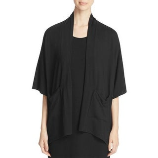 Eileen Fisher Womens Cardigan Top Kimono Patch Pockets