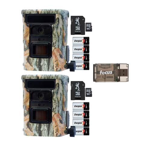 Browning Defender 940 Trail Camera (2-Pack) with Card Reader Bundle