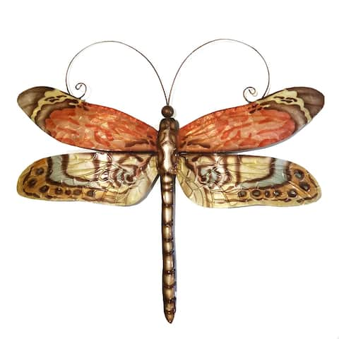 Handmade Dragonfly Red Multi Color