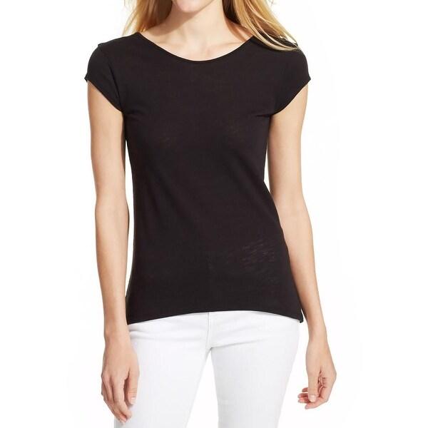 Calvin Klein Jeans Womens Juniors Casual Top Modal Blend Short Sleeves