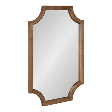 Kate and Laurel Hogan Scalloped Wood Framed Mirror