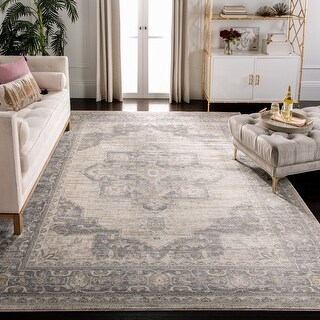 Link to SAFAVIEH Brentwood Clara Traditional Oriental Medallion Rug Similar Items in Shabby Chic Rugs