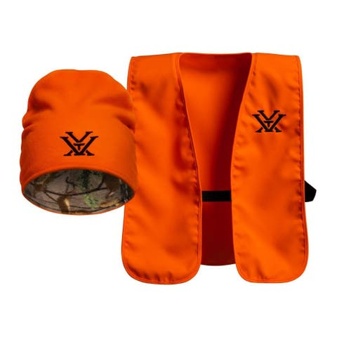 Vortex Blaze Orange Vest and Knit Hat Combo