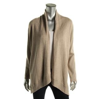 Eileen Fisher Womens Petites Wool Open Front Cardigan Top