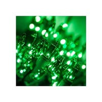 "Wintergreen Lighting 17513 13.3' Long Indoor Standard 35 Mini Light Holiday Light Strand with 4"" Spacing and Green Wire"