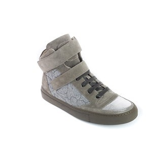 Brunello Cucinelli Womens Grey HighTop Suede&Felt Sneakers