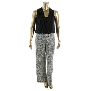 Karen Kane Womens Printed Sleeveless Jumpsuit - XL