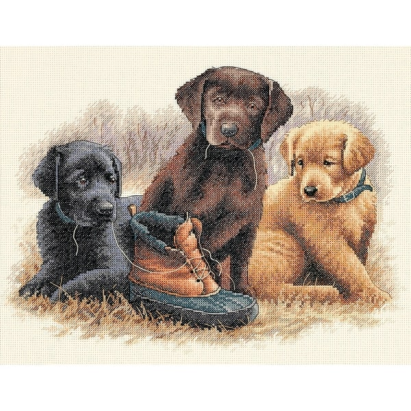 "Chew Toy Counted Cross Stitch Kit-14""X11"" 14 Count - White"