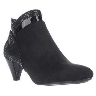 KS35 Cahleb Dress Ankle Booties, Black