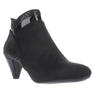 KS35 Cahleb Dress Ankle Booties, Black