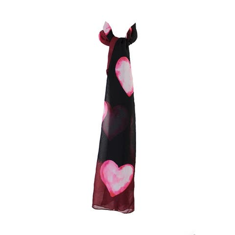 Style & Co. Burgundy Watercolor Heart Wrap OS