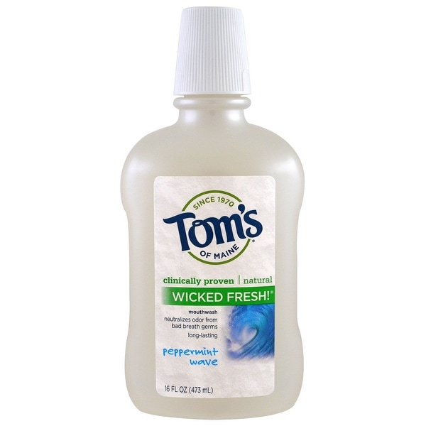 Tom's of Maine Wicked Pepermint Mouthwash - 16 oz, 8 Pack