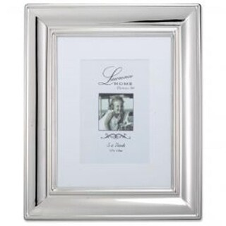 LawrenceFrames 8 x 10 in. Wide Elegance Picture Frame, Silver