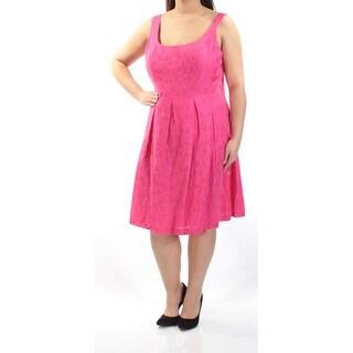 NINE WEST $79 Womens 1256 Pink Sleeveless Fit + Flare Prom Dress 18 B+B