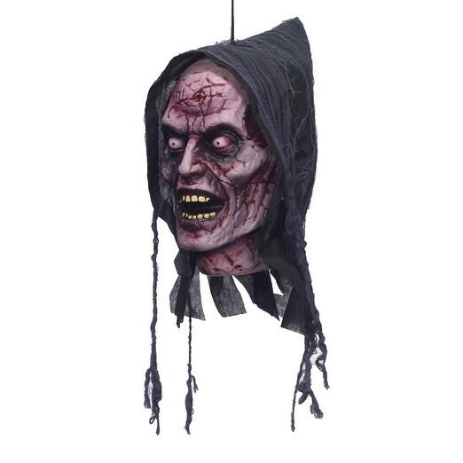 Ghost Poly Foam Head Hanging Halloween Prop