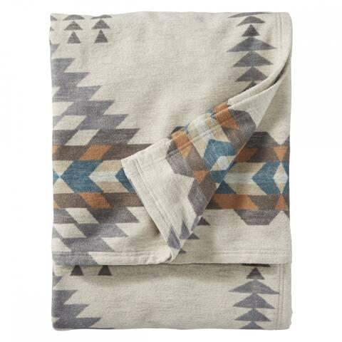 Pendleton Rancho Arrayo Pebble Organic Cotton Twin Blanket