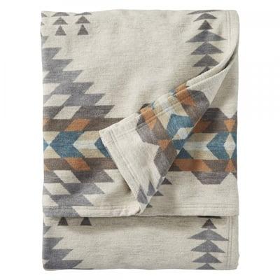 Pendleton Rancho Arroya Pebble Organic Cotton Washable Queen Blanket