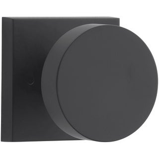 Baldwin PV.CON.CSR Modern Privacy Door Knob Set with Modern Square Trim from the Reserve Collection - N/A