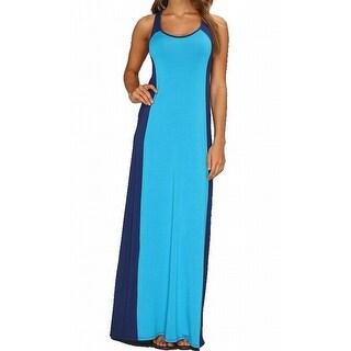 Michael Stars NEW Blue Women's Small S Colorblock Maxi Dress