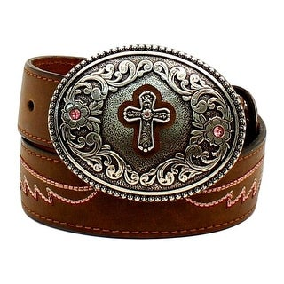 Ariat Western Belt Girls Kids Beads Conchos Studs Bling Brown A1302602
