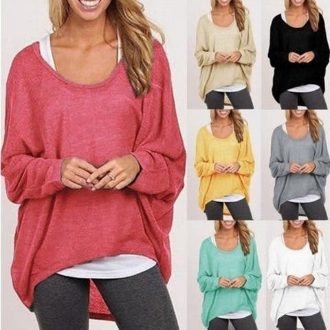 New Loose Women's T-Shirt Multi-Color Sweater