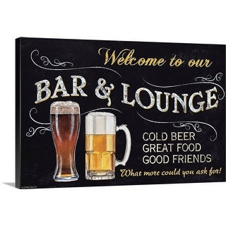 """""""Welcome to Our Bar"""" Canvas Wall Art"""