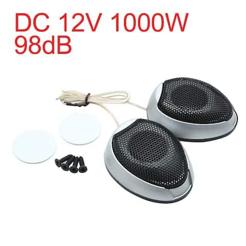 DC 12V 1000W 98dB Super Power Universal Car Audio Tweeter Loud Speaker Pair