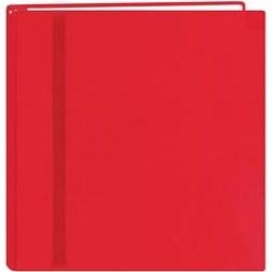 "Snapload Cloth W/Ribbon Album 12""X12""-Red - Red"