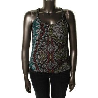 Belle du Jour Womens Juniors Knit Printed Tank Top
