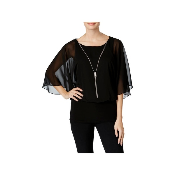 5ae3ca80444a97 Shop MSK Womens Pullover Top Sheer Banded - Free Shipping On Orders ...
