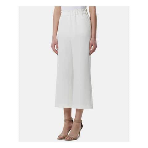 TAHARI Womens Ivory Cropped Wear to Work Pants Size: 6