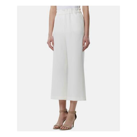 TAHARI Womens Ivory Cropped Wear To Work Pants Size 6
