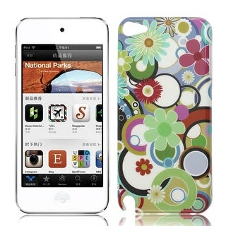Plastic Circle Floral IMD Hard Back Case Cover for iPod Touch 5 5G 5th Gen