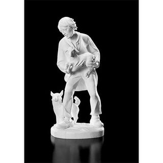 CB Catholic WC968 32 in. Val Shepherd with Lamb & Dog Figurine