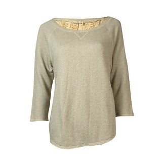 Rachel Roy Women's Lace Back Sweatshirt - light grey heather - m
