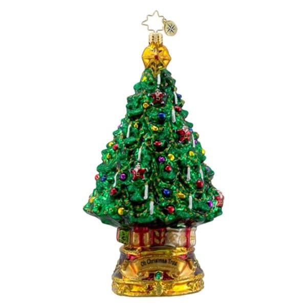 Christopher Radko Glass O Christmas Tree Holiday Ornament #1016310