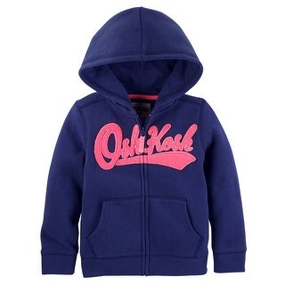 OshKosh B'gosh Little Girls' Logo Hoodie, Blue, 5-Toddler