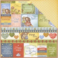 """Scrapberry's Sweetheart Double-Sided Cardstock 12""""X12""""-You & Me"""