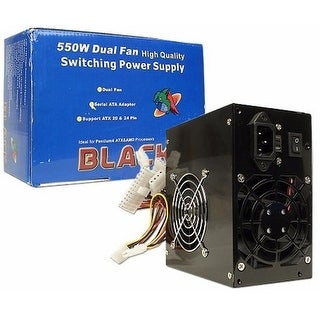 Logisys 550W watt ATX 20+4-Pin Power Supply PSU w/SATA - PS550A-BK (Black)