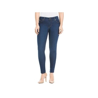 Beija Flor Womens Audrey Ankle Jeans Mid-Rise Button-Zip Fly