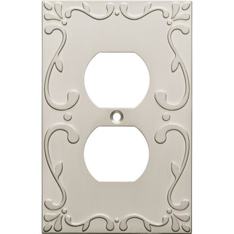 Franklin Brass W35071-C Classic Lace Single Duplex Outlet Wall Plate