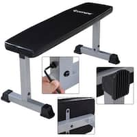 Costway Sit Up Bench Flat Crunch Board AB Abdominal Fitness Weight Exercise - as pic