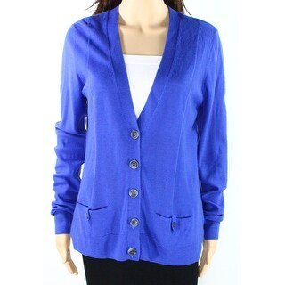 Halogen NEW Blue Women's Size Small S Cardigan Wool Button-Down Sweater