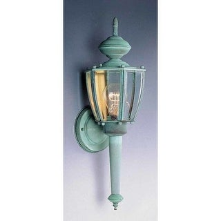 """Volume Lighting V9211 1 Light 18.25"""" Height Outdoor Wall Sconce with Clear Bevel"""