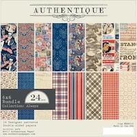 "Authentique Double-Sided Cardstock 6""X6"" 24/Pkg-Heroic, 8 Designs/3 Each"