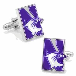 Licensed Northwestern University Wildcats Logo Cufflinks - Purple